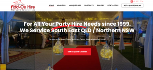 Add On Hire – Marquee Hire Gold Coast